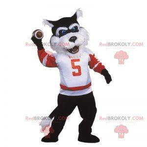 Hráč amerického fotbalu vlk maskot