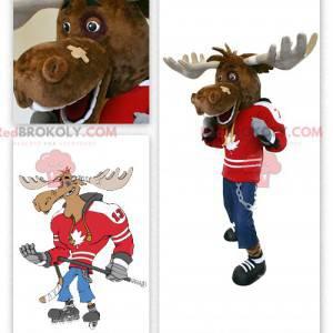 Maskot karibu hokejista - Redbrokoly.com