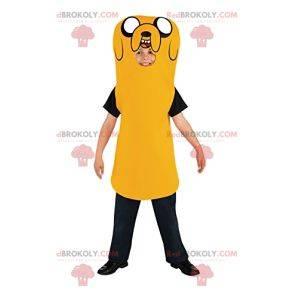 Gelbes Hundemaskottchen. Gelbes Hundekostüm