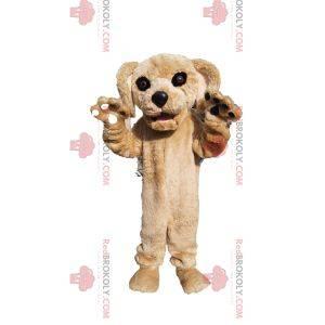 Béžový psí maskot s krásnou tváří