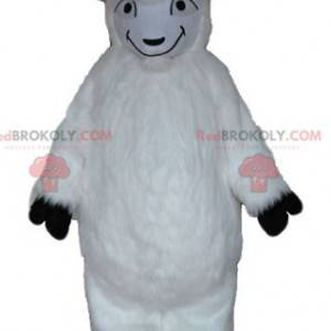 Mascotte capra bianca tutta pelosa - Redbrokoly.com