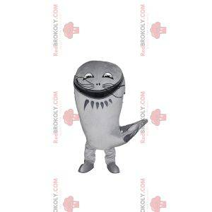 Gray catfish mascot with his big whiskers