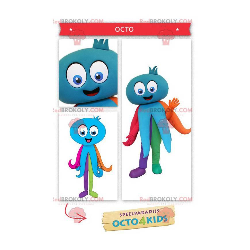 Obří modrá chobotnice maskot - Redbrokoly.com