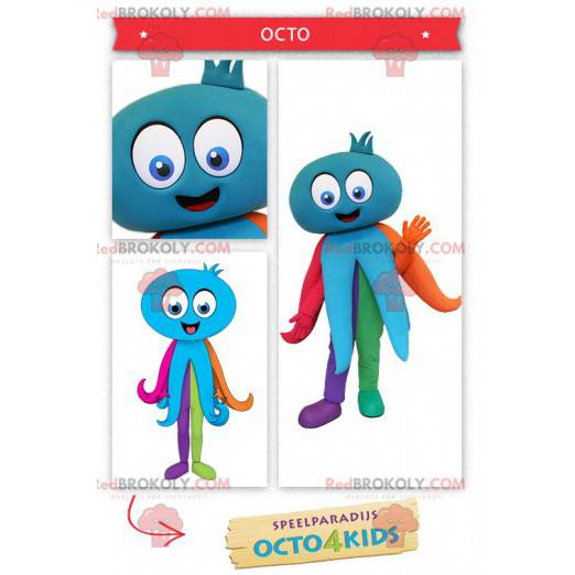 Giant blue octopus mascot - Redbrokoly.com
