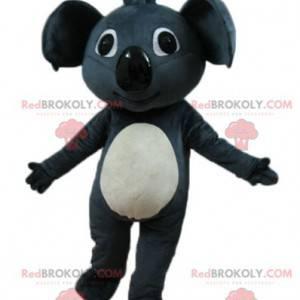 Mascote lindo coala gigante cinza e branco - Redbrokoly.com