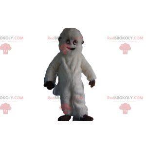 Maskotka biały Yeti. Biały kostium Yeti