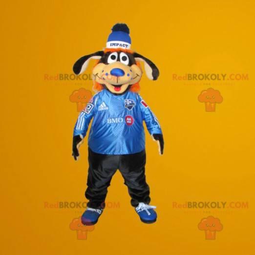 Black and orange dog mascot - Redbrokoly.com