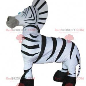 Gigantische en zeer succesvolle zwart-witte zebra-mascotte -