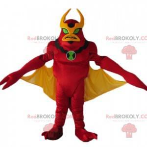 Mascota robot rojo y amarillo juguete alienígena -