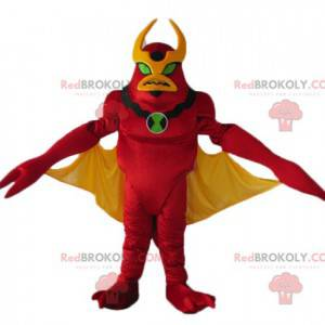 Red and yellow robot mascot alien toy - Redbrokoly.com