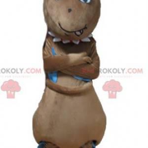 Mascote formiga marrom gigante e engraçada - Redbrokoly.com