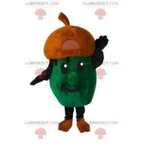 Kleines grünes Eichelmaskottchen