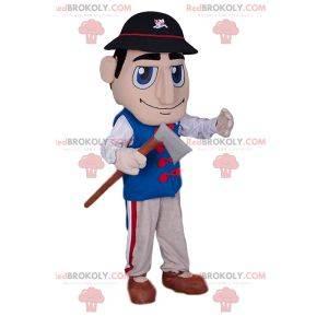 Lumberjack mascot with his ax