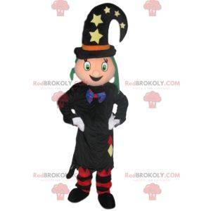 Sehr schönes Hexenmaskottchen mit einem lustigen Hut