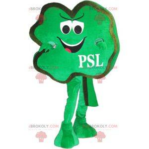 Smiling clover mascot