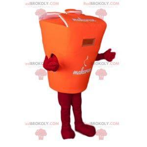 Orange Bento Box Maskottchen