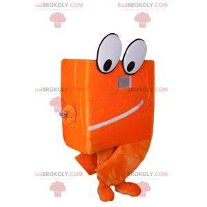 Big eyed box mascot