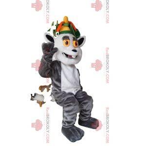 Maskot av kong Julian, berømt Madasgacar-lemur. Kong Julian kostyme