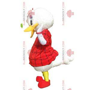 Daisy mascot with a red Halloween dress