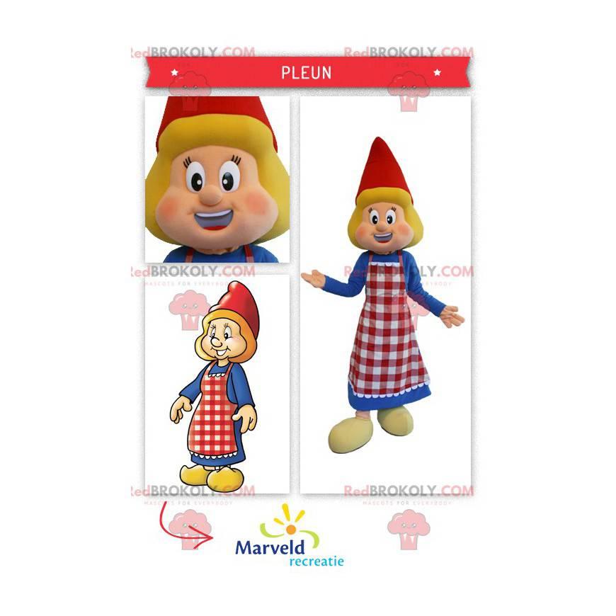 Holenderska maskotka ubrana w tradycyjny strój - Redbrokoly.com