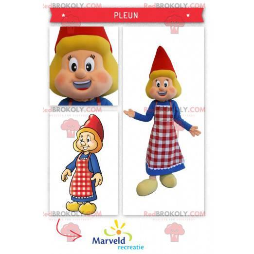 Nederlandsk maskot kledd i tradisjonell antrekk - Redbrokoly.com