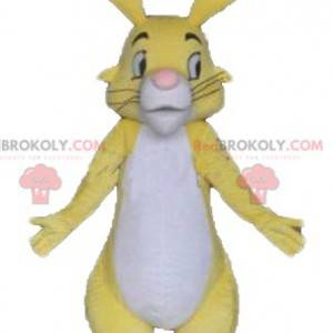 Beautiful yellow white and pink rabbit mascot - Redbrokoly.com