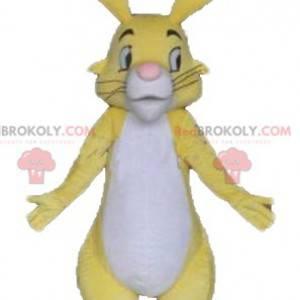 Piękna żółta biało-różowa maskotka królik - Redbrokoly.com