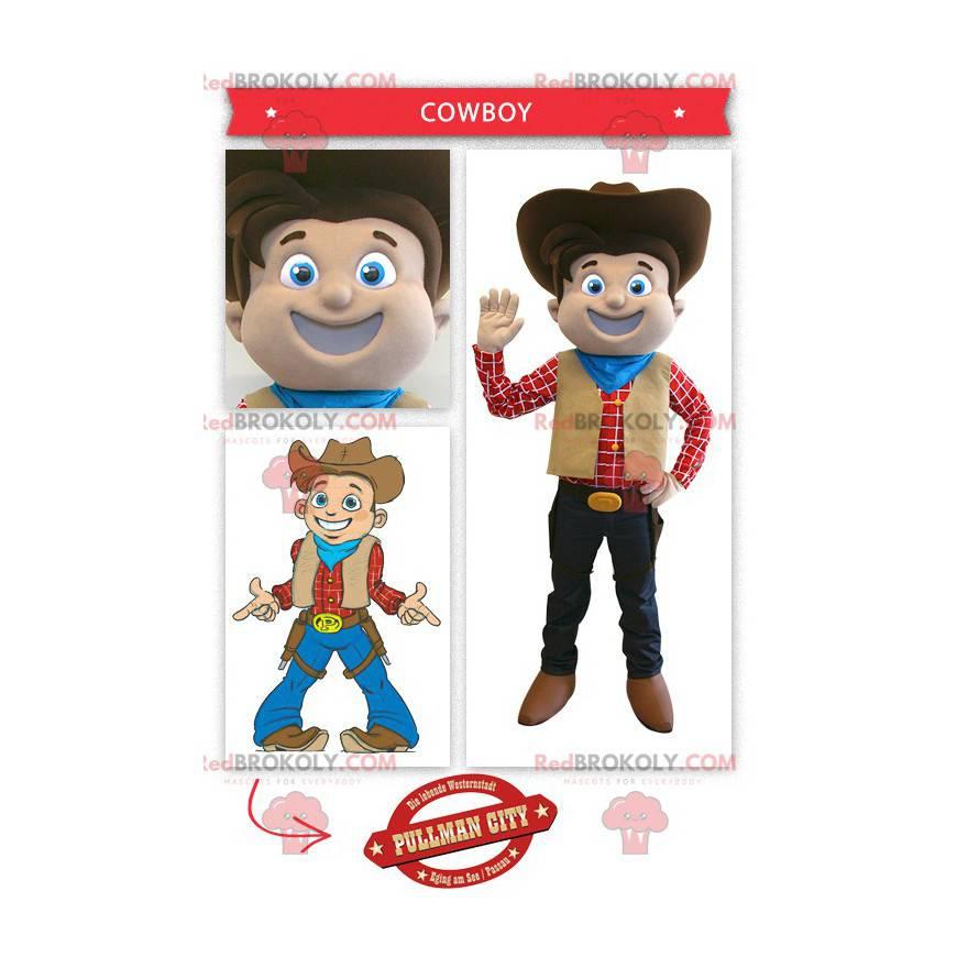 Usměvavý kovboj maskot - Redbrokoly.com