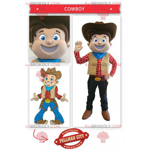 Uśmiechnięta maskotka kowboja - Redbrokoly.com