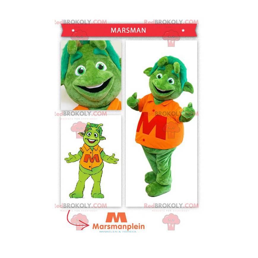 Grønn alien martian maskot - Redbrokoly.com