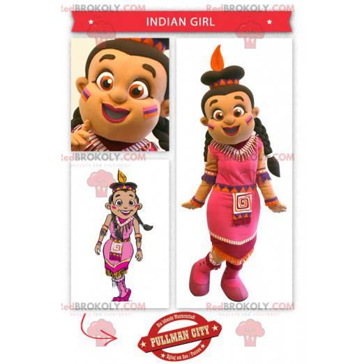 Indisches Maskottchen gekleidet in ein rosa Kleid -