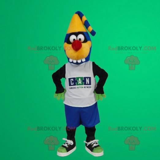 Blue and yellow monster mascot - Redbrokoly.com