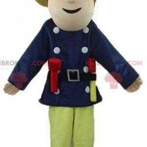 Explorer man mascot with a big hat - Redbrokoly.com
