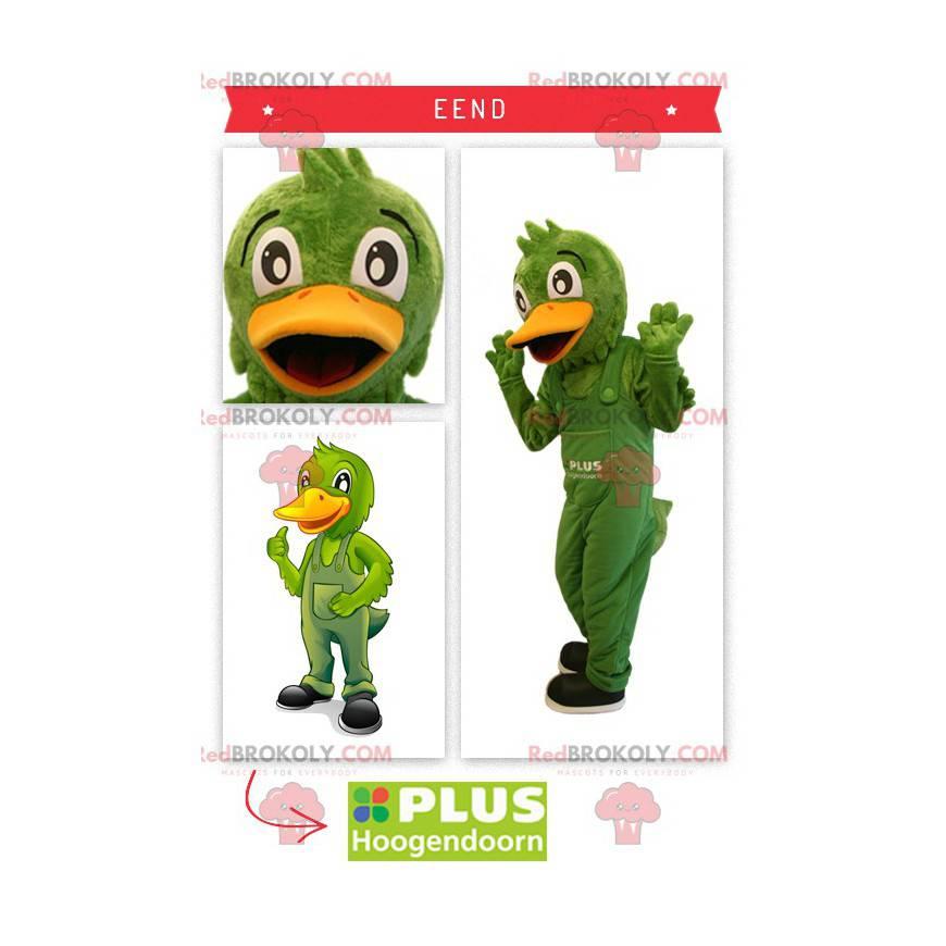 Green duck mascot overalls - Redbrokoly.com