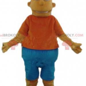 Bart mascotte famoso personaggio giallo dei Simpson -