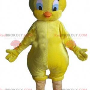 Mascot Titi famoso canario amarillo Looney Tunes -