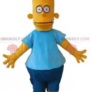 Bart Simpson mascote famoso personagem de desenho animado -