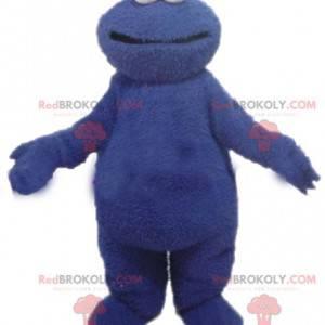 Blaues Monstermaskottchen der Sesamstraße Grover -