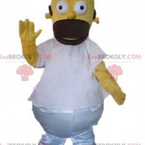Homer Simpson mascote famoso personagem de desenho animado -