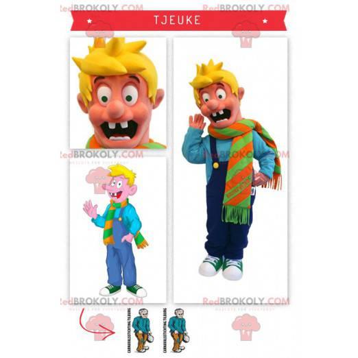 Tjeuke blond gutt maskot berømte karakter i Holland -