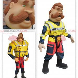 Coastal lifeguard firefighter mascot - Redbrokoly.com