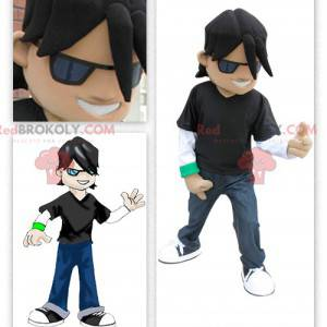Ung rocker rockstar maskot - Redbrokoly.com