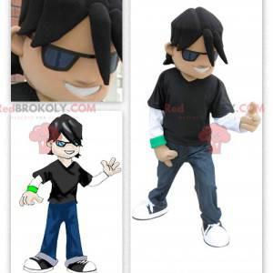 Young rocker rockstar mascot - Redbrokoly.com