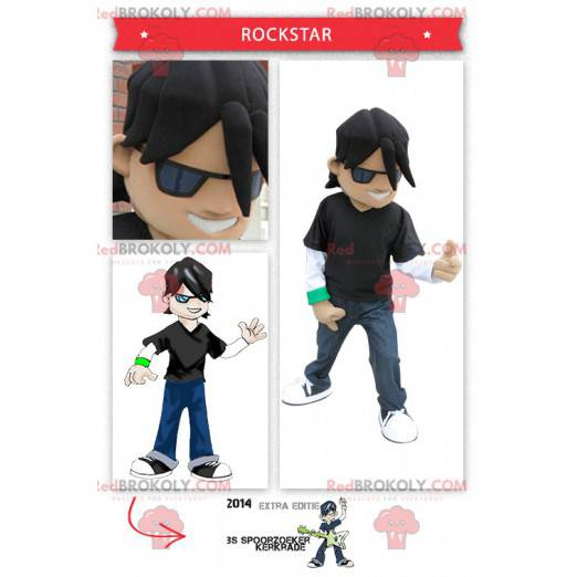 Junges Rocker-Rockstar-Maskottchen - Redbrokoly.com