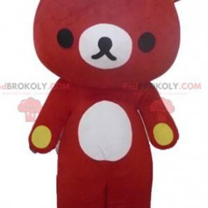Big red and giant teddy bear mascot - Redbrokoly.com