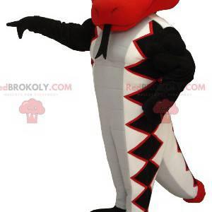 Schlangenmaskottchen rot weiß und schwarz - Redbrokoly.com
