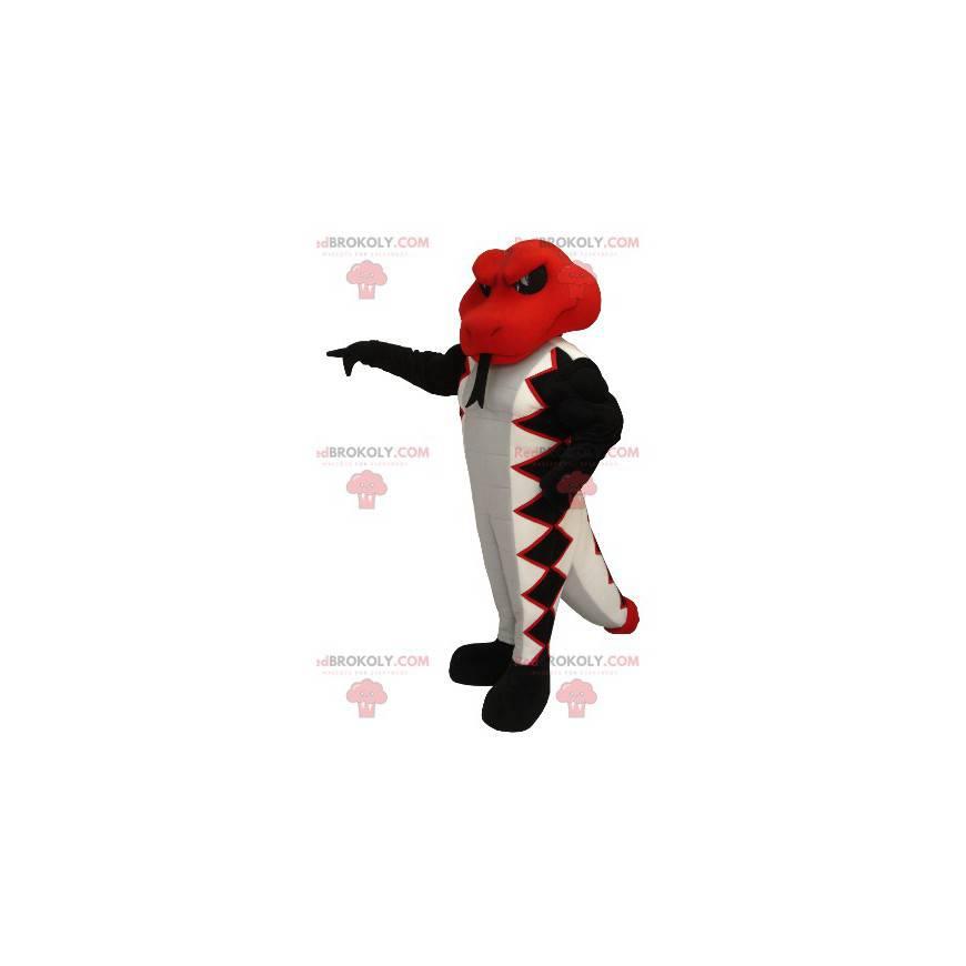 Maskot hada červená bílá a černá - Redbrokoly.com
