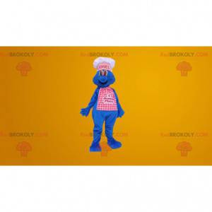 Blue chef chef mascot - Redbrokoly.com