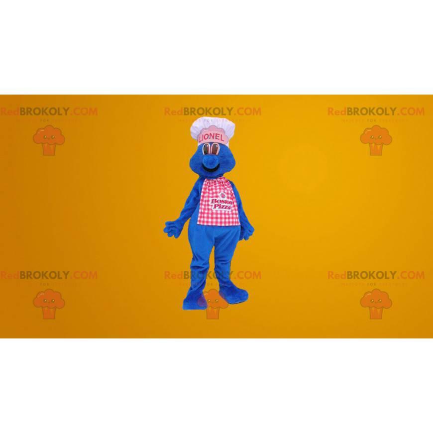 Modrý kuchař kuchař maskot - Redbrokoly.com