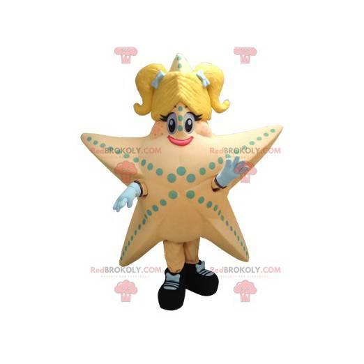 Obří losos a žlutý hvězdice maskot - Redbrokoly.com